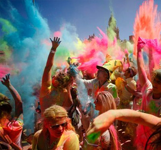 Holi One Colour Festival close to Cape Town Self Catering Accommodation Apartments